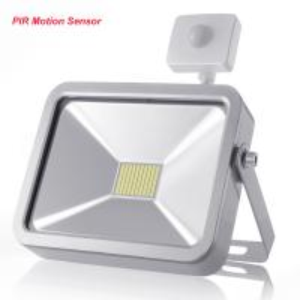 Outdoor LED Flood Lights IP65 With PIR Motion Sensor , Garden Security Lighting 30W Manufactures
