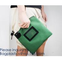 Buy cheap Custom Logo Security Money Pouch Utility Bank Deposit Bag with Zipper pouch case bag,Portable bank bag, bagease, bagplas from wholesalers