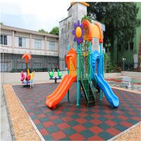 Buy cheap Outdoor rubber safety flooring rubber mat for playground elder center from wholesalers
