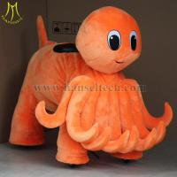 China Hansel shopping mall new games electric plush bike on motor riding animal toys for kids on sale