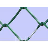 Buy cheap PVC Coated Chain Link Fence Fabric ScreenWith Round Post / Firm Structure from wholesalers