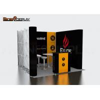 Buy cheap Straight Shape Printed Tension Fabric Booth , Promotion Pop Up Display Banner Stand from wholesalers