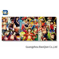 Buy cheap Cartoon One Piece Picture For Wall Decoration , 3d Flip Changing Picture / Poster from wholesalers