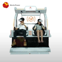 Buy cheap Small Business Dynamic Effect 9D VR Cinema 2 Seats Virtual Reality Machine from wholesalers