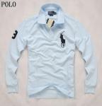 Buy cheap Men' s Ralph Lauren Polo Shirt,  Big Pony,  Long Sleeve,  baby blue from wholesalers