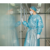 Buy cheap Chemical resistant surgical isolation gown disposable 2ply SPP lamination PE from wholesalers