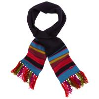 Buy cheap Multi Coloured Kids Cute Knitted Scarves Blank Woven Logo Available 20*130-1cm from wholesalers