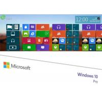 Buy cheap OEM Software Windows 7 / 8.1 / 10 Pro Pack Retail Box With Genuine COA Key Sticker from wholesalers