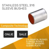 Buy cheap 316 Stainless Steel Sleeve Bushing With Red Modified PTFE For Printing & Dyeing Machines from wholesalers
