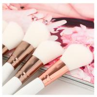 Buy cheap Cute Oblique Eyebrow Brush White Color Wood Handle with Blush Brush from wholesalers