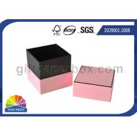 Buy cheap Hard Cover Cardboard / Kraft Paper Gift Box Pink Luxury Small Jewelry Box from wholesalers