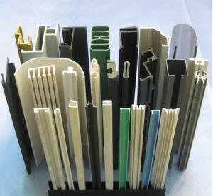 China PVC Window Sill Profile Making Machine Conical Twin Screw Extruder on sale