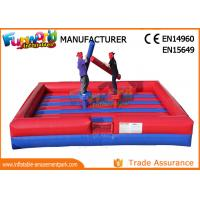 Wholesale PVC Tarpaulin Inflatable Sports Games / Gladiator Duels Blow Up Jousting Arena from china suppliers