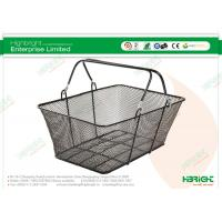 Retail Black Wire Mesh Double Handle Hand Held Shopping Baskets HBE-B-23 Manufactures