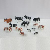 Buy cheap 1:150 color cattle,model animal,painted cattle,ABS model cows,HO figure,HO animals,color cows,HO animals from wholesalers