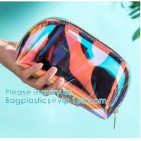 Buy cheap Eco Beauty Holographic Travel Cosmetic Bag,Makeup Bag PVC Holographic Laser from wholesalers