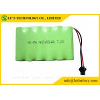 Buy cheap 2400mah 7.2V 1.2 V Rechargeable Battery , AA NIMH Battery Pack Long Service Life from wholesalers