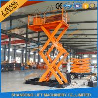 Buy cheap 5T 3.5M Stationary Hydraulic Scissor Lift , Scissor Lifting Platform from wholesalers