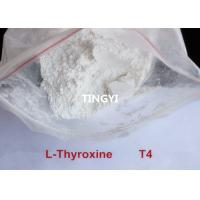 Buy cheap CAS 25416-65-3  Pharmaceutical Raw Steroid Powder T4 / L-Thyroxine Sodium salt  For Weight Loss from wholesalers
