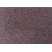Buy cheap European Style Double Side Wool Velour Fabric For Winter Wear Wine Color from wholesalers
