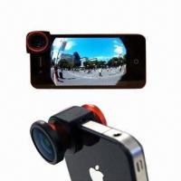 Buy cheap 3-in-1 Camera Lens for iPhone, with Fish-eye Angle from wholesalers