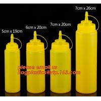Buy cheap FDA Food Grade 8oz Empty Custom LDPE Plastic Ketchup Squeeze Bottle with Scale for Syrup, Sauce, Ketchup, BBQ Sauce, Con from wholesalers