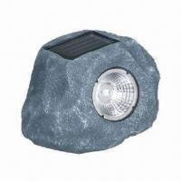 Buy cheap Promotional Gift Solar Light with 3-piece LED, 1 x 600mAh NiMH Capacity and Resin Housing Material from wholesalers