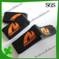 Buy cheap factory customize Eco-friendly black velcro ski strap with logo printed from wholesalers