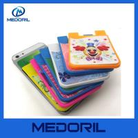 Wholesale China Manufacturer custom silicone mobile smart card wallet with screen cleaner from china suppliers