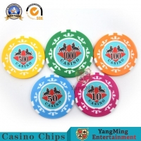 Buy cheap American ABS Clay Texas Hold'Em Poker Chip Set 760 Pcs Eight Crowns Casino Dedicated Sticker Anti-Counterfeiting Chip from wholesalers