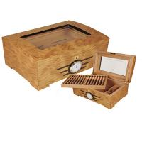 Buy cheap wooden cigar humidors, hinge & clasp, cedar wood pallet, with lock from wholesalers