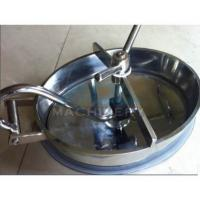 Buy cheap Sanitary Food Grade Non-Pressure Oval Manhole Cover In Stainless Steel Ss304 Or Ss316l from wholesalers