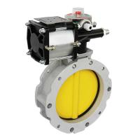 Buy cheap Pneumatic Flanged Powder Butterfly Valve for Cement Application from wholesalers