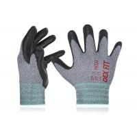 Buy cheap Nylon / Polyester Liner Foam Nitrile Coated Gloves Anti Abrasion Free Sample from wholesalers