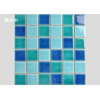 Wholesale 2 Color Assorted Ice Cracked Glass Mosaic Tile Sheets For Swimming Pool 36 Pcs from china suppliers
