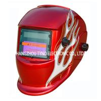 Buy cheap CE Welding Helmets Red Flame Design with Auto darkening Filter from wholesalers