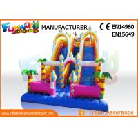 Buy cheap Giant Vinyl Commercial Inflatable Slide / Double Inflatable Playground Slide from wholesalers