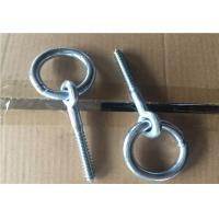 Buy cheap Zinc Plated Fasteners Forged Eye Bolts / Eye Bolt With Ring Wood Thread Lag Screw from wholesalers