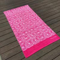 Buy cheap Soft Women Designer Beach Towels Reactive Print Pink And White Flower product