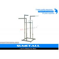 Buy cheap Metal Shop Display Fittings / Commercial Grade Garment Rack For Clothes Hanging from wholesalers