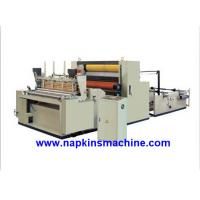Wholesale Full Automatic Paper Roll Rewinding Machine For Sanitary Napkin / Hankie from china suppliers