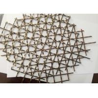 Wholesale 1 . 0mm Thickness 304 Stainless Steel Wire Crimped Wire Mesh with Copper Coating from china suppliers