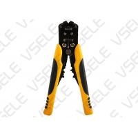 Buy cheap Automotive Wire Terminal Crimping Tool / Yellow Portable Wire Stripper from wholesalers