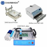 Buy cheap PCB Assembly line: Stencil printer 3040 , CHMT36VA smt machine , BRT-420 Reflow Oven from wholesalers