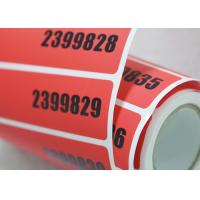 Buy cheap Void Self Adhesive Tamper Evident Security Labels With Hot Stamping Hologram from wholesalers
