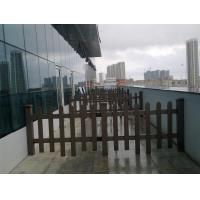Buy cheap Green Partition Isolation WPC Decking Fence Panels For Landscape and Building from wholesalers
