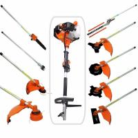 Buy cheap Multi 52CC 2-strokes 9 in 1 Multi brush cutter grass trimmer lawn mower tree pruner tool garden work from wholesalers