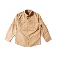 Buy cheap Brown Tactical Combat Shirt / Air Force Abu Combat Shirt Military Style Rub Resistance from wholesalers