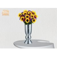 Buy cheap Indoor Small Fiberglass Planters Table Vases Silver Mosaic Glass Finish from wholesalers