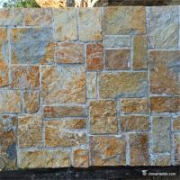 China Quartzite Random Loose Stacked Stone For Landscape Garden Wall Decoration on sale